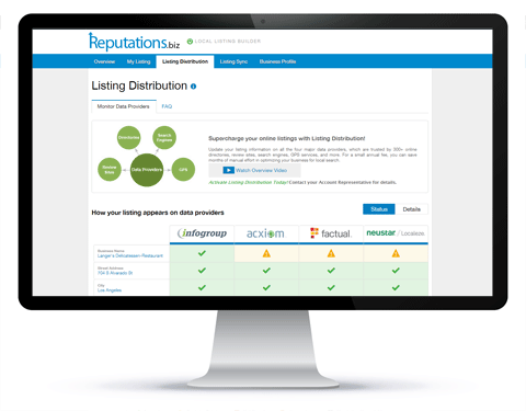 local listing - listing distribution